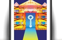 21x30 cm Tajemnica klucza-plakat dekoracyjny