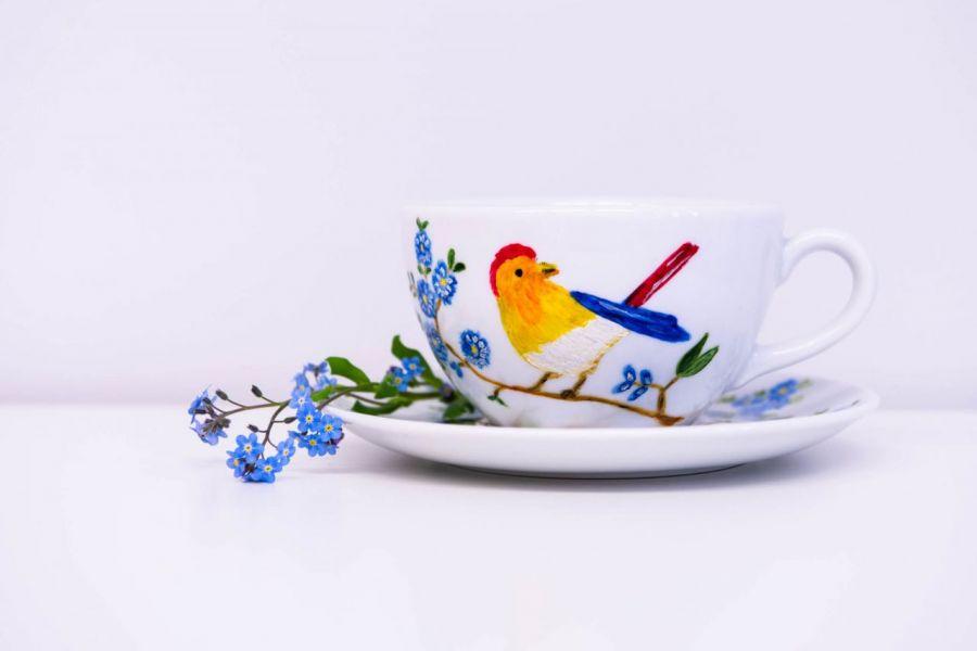 Filiżanka rajski ptak - null