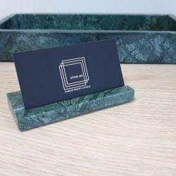 Wizytownik z kamienia marmuru  zielony