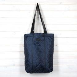 Pikowana torba shopperka granatowa