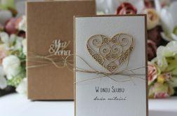 Stylowa kartka ślubna 19