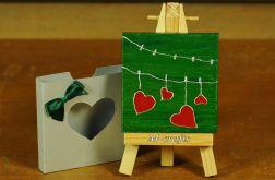 Kartka-Magnes: Cztery serca...