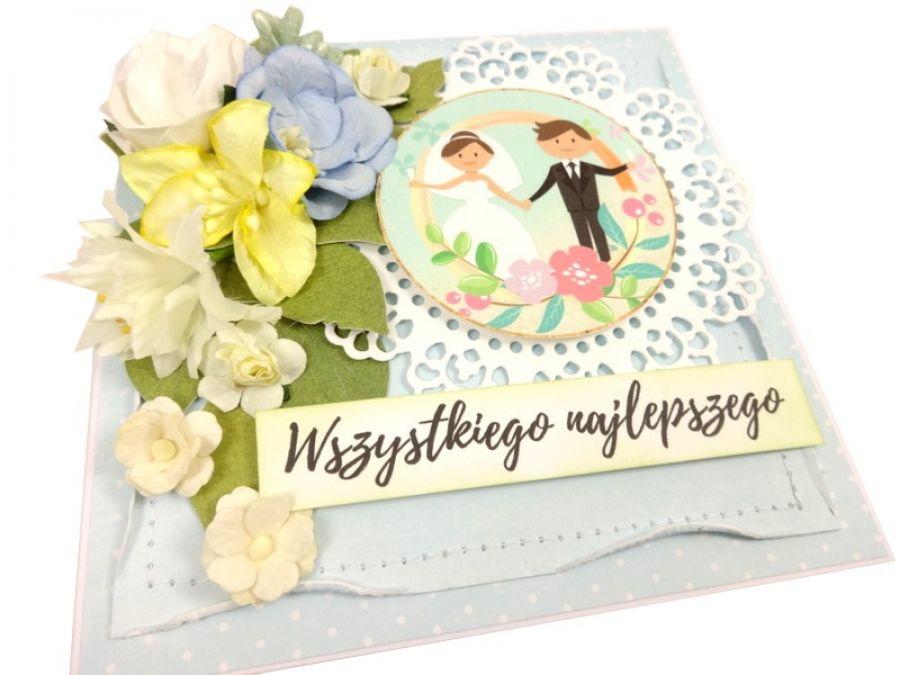 Kartka ślubna z grafiką  #593