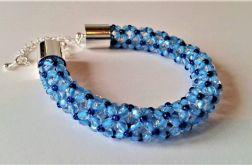 Bransoletka koralikowa niebieska