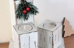 Świeczniki świąteczne vintage
