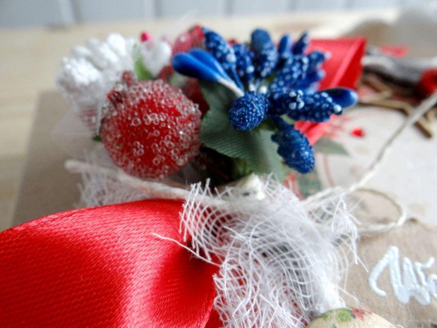 Kartka świąteczna w pudełku VINTAGE #3 - Detal1