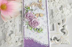 Ślubna kartka DL w pudełku 125