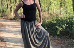 Spódnica długa lejąca sie oliwka