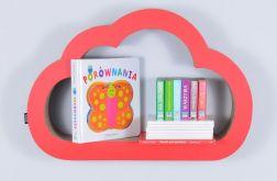 Półka na książki CHMURKA | czerwony