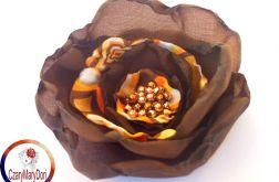Elegancka broszka ( kwiat do włosów)róża vintage