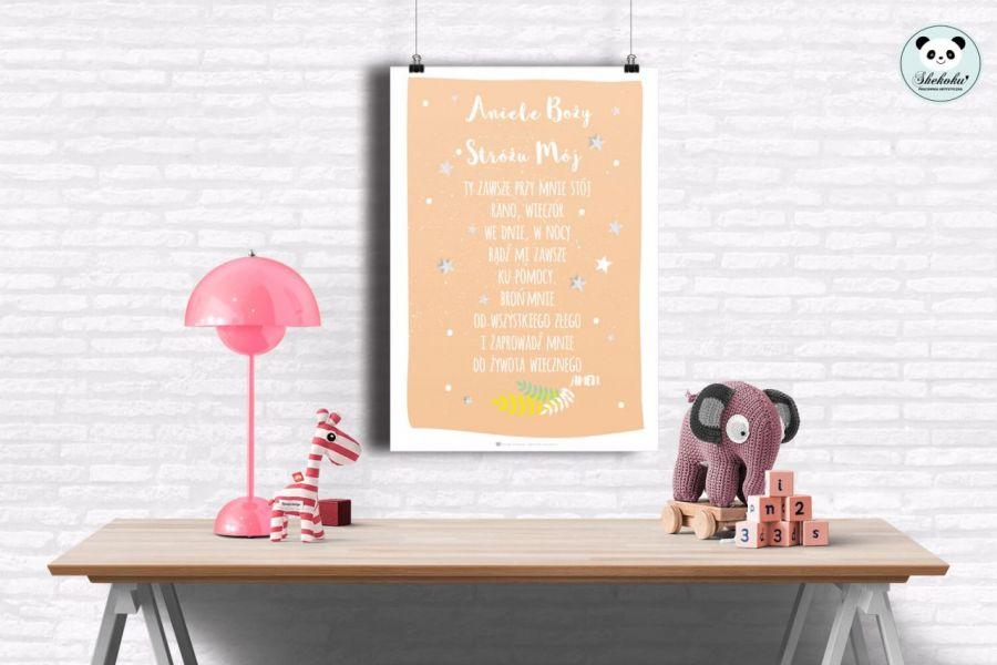 plakat Aniele Boży- 50x70 ŁOSOSIOWY