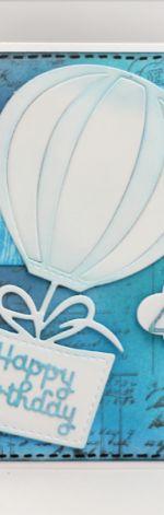 Kartka urodzinowa z balonem na 40 KU081