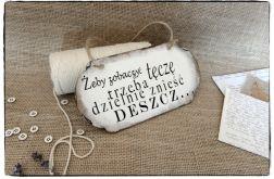 Szyld Tabliczka z napisem ~Zobaczyć tęczę~