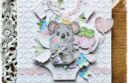 Koala dla dziewczynki - kartka dziecięca
