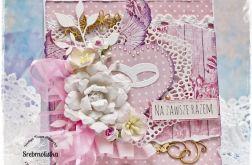 Kartka ślubna ze skrzydłami