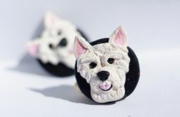 West Highland White Terrier - kolczyki