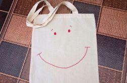 torba uśmiech ręcznie malowana