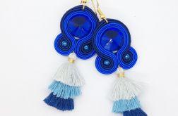 Tricolor Blue Navy kolczyki sutasz