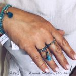 Zestaw biżuterii Jadeit turkusowy model 4