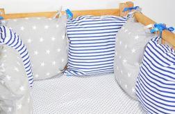 Modułowy ochraniacz do łóżeczka 6 szt N14