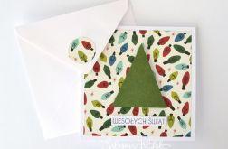 Kartka świąteczna - lampki 14-264