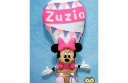 Myszka w balonie z imieniem dziecka