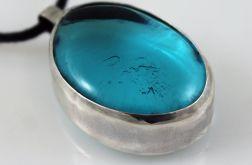 Błękit w srebrze - wisior 171218-01