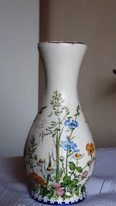 Wazonik łąka polne kwiatuszki