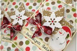Kartka świąteczna z bałwankiem 1