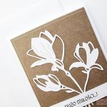 Kartka ŚLUBNA kraftowo-biała #2 - Kartka ślubna kraftowo-biała