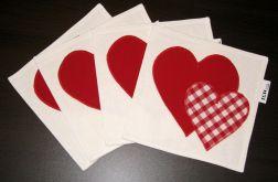 Walentynkowe podkładki pod filiżanki