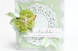 Kartka Ślubna w pudełku - zieleń