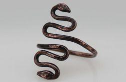 Wężyk - miedziany pierścionek 190522-02