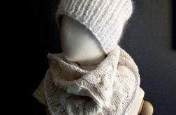 ciepła czapka beanie biała