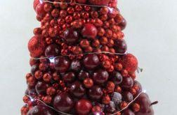 Czerwona choinka z kulek 20 led