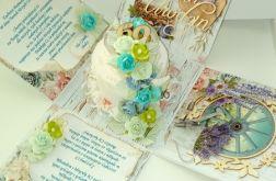 kartka z tortem jako schowkiem