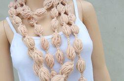 bubble scarf - w kolorze beżowym