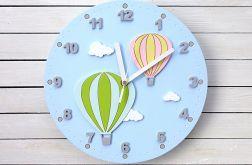 Zegar dla dziecka z balonami