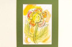 rysunek dla dziewczynki, kwiatuszek obrazek