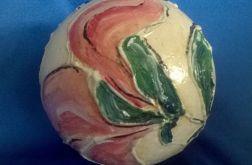 Bombka Malowana Magnolie Oranż 12 cm