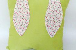 Poduszka ozdobna z uszami 40x40cm zielona