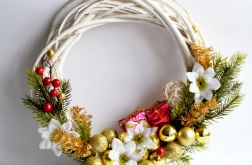 Stroik wianek Bożonarodzeniowy na drzwi