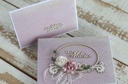 Kwiatowa kartka ślubna z pudełkiem A4