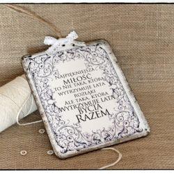 Tabliczka z napisem ~Prawdziwa Miłość~