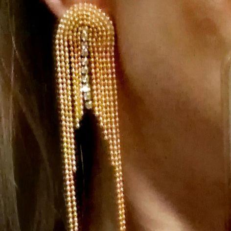 Kolczyki złote, długie, na urodziny, wesele, komunię