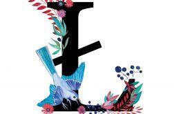 Alfabet Ł wydruk ilustracji