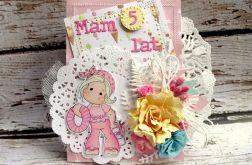 Kartka dla małej dziewczynki