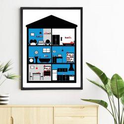 Plakat In House / Blue