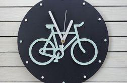 Zegar ścienny z rowerem