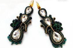 Kolczyki Green z kryształami